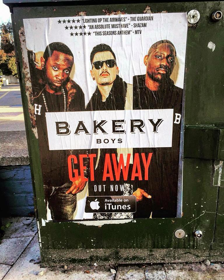 Graphic Design Services Poster Of Bakery Boys Get Away On Streets
