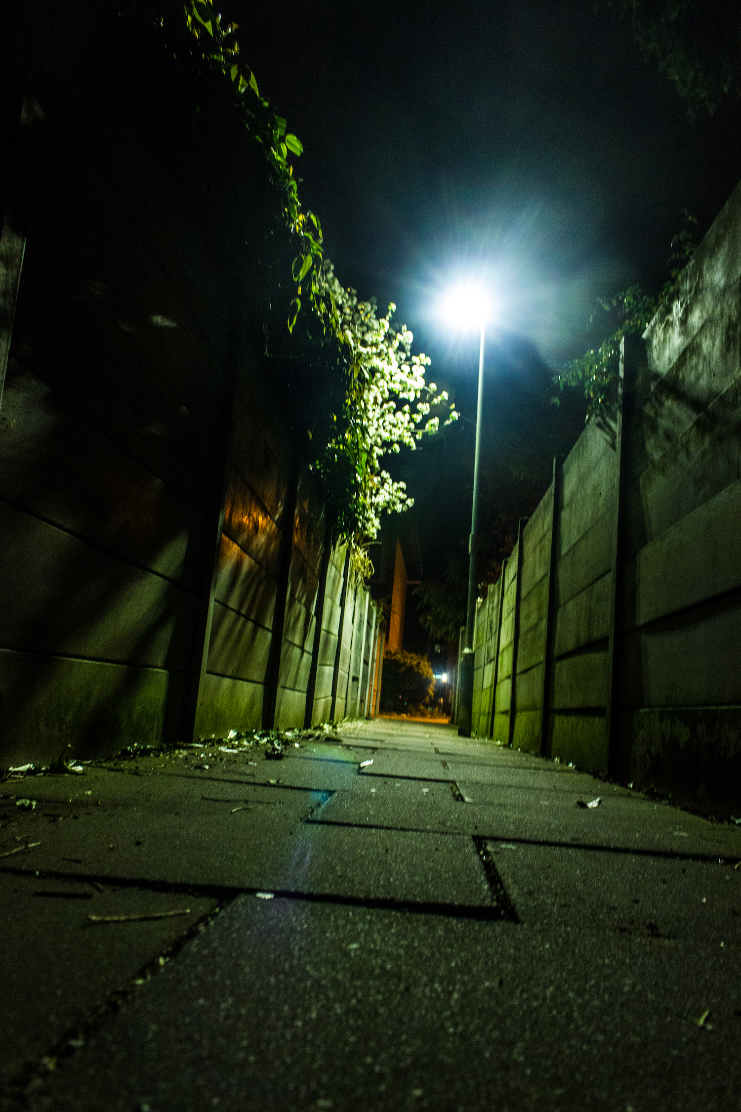Professional Photography Gritty Alley With Concrete In Ilford North East London.