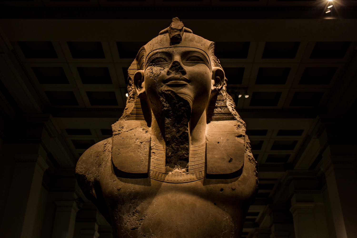 Professional Photography Close-Up Stone Sculpture From Kemet Egypt Of King Amenophis III In British Museum London