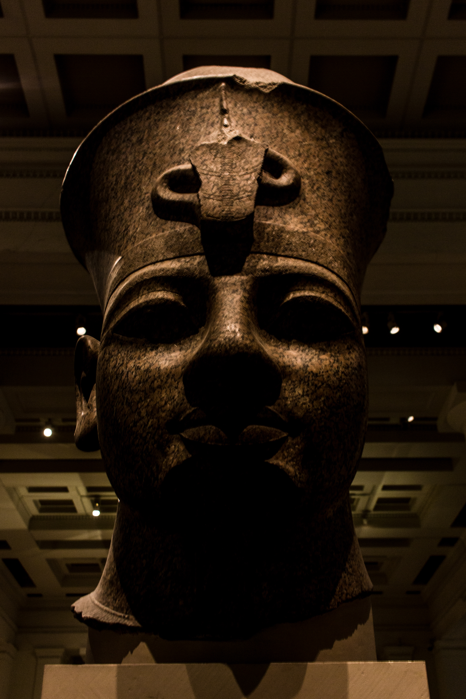 Professional Photography Stone Head Sculpture From Kemet Egypt Of King Amenophis III In British Museum London