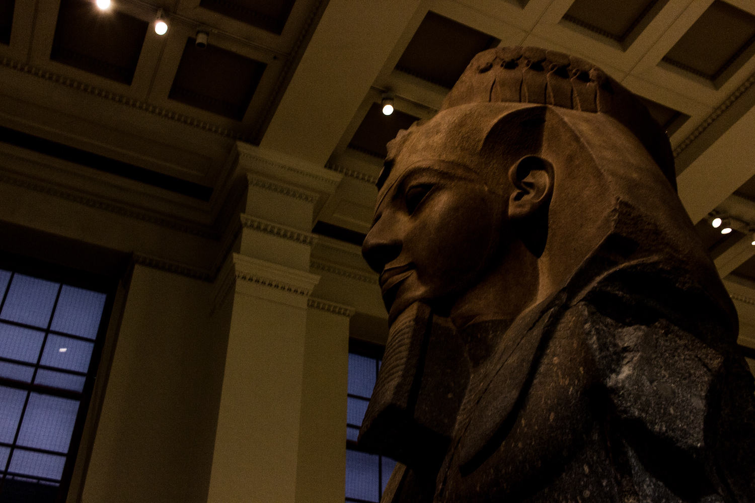 Professional Photography Stone Sculpture From Kemet Egypt Close-Up Of King Ramses II In British Museum London