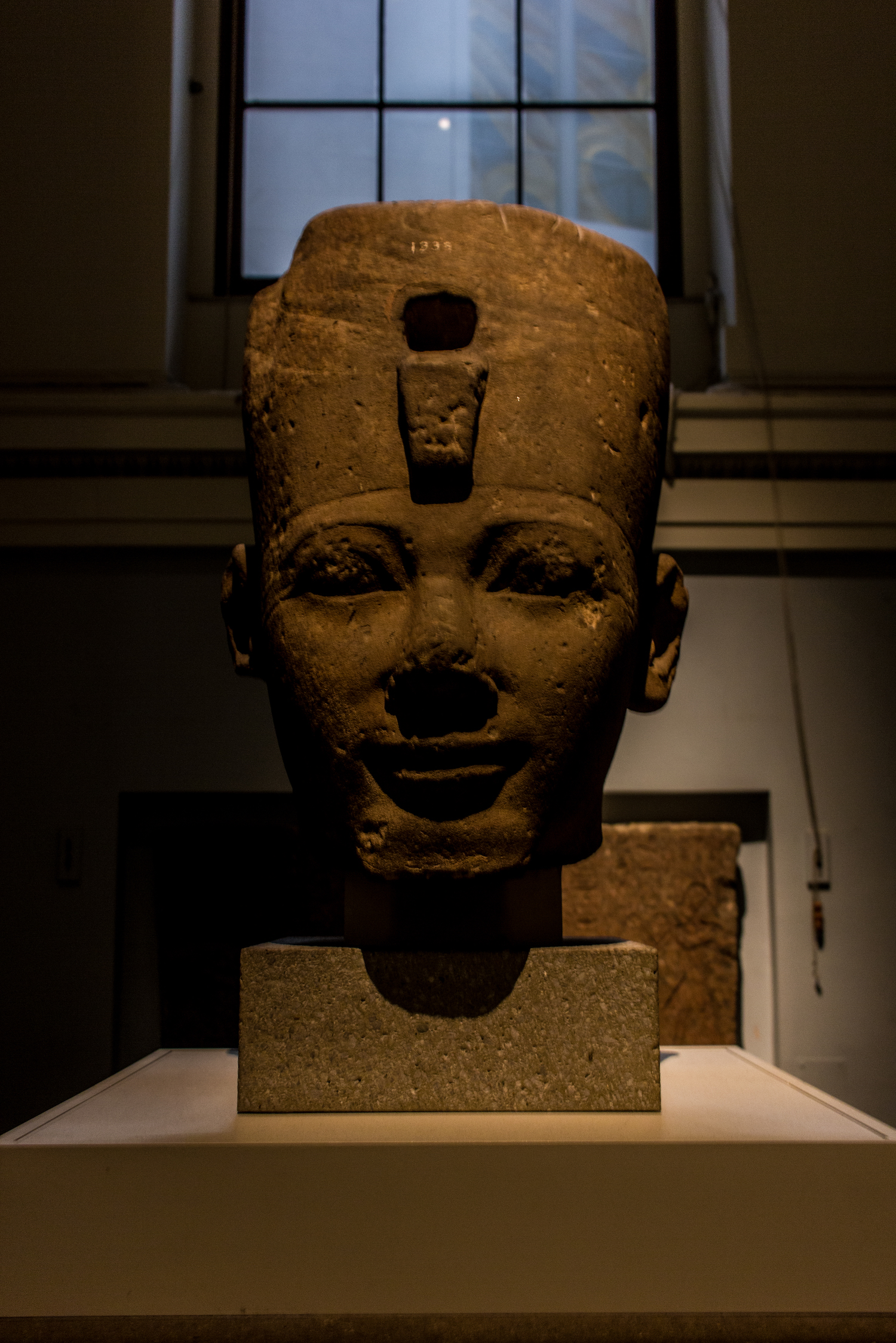 Professional Photography Stone Head Sculpture From Kemet Egypt Of King Tuthmosis I In British Museum London