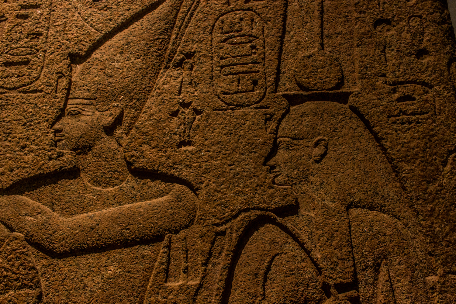 Professional Photography Close-Up Stone Sculpture From Kemet Egypt Of King Osorkon II In British Museum London