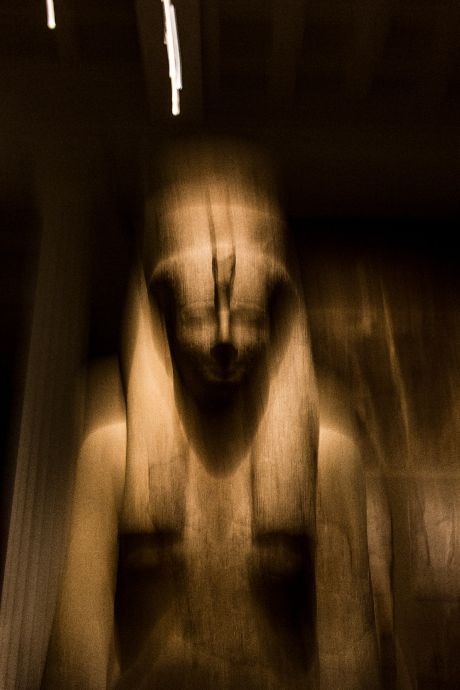 Professional Photography Stone Sculpture From Kemet Egypt Of Goddess Hathor Blurred In British Museum London