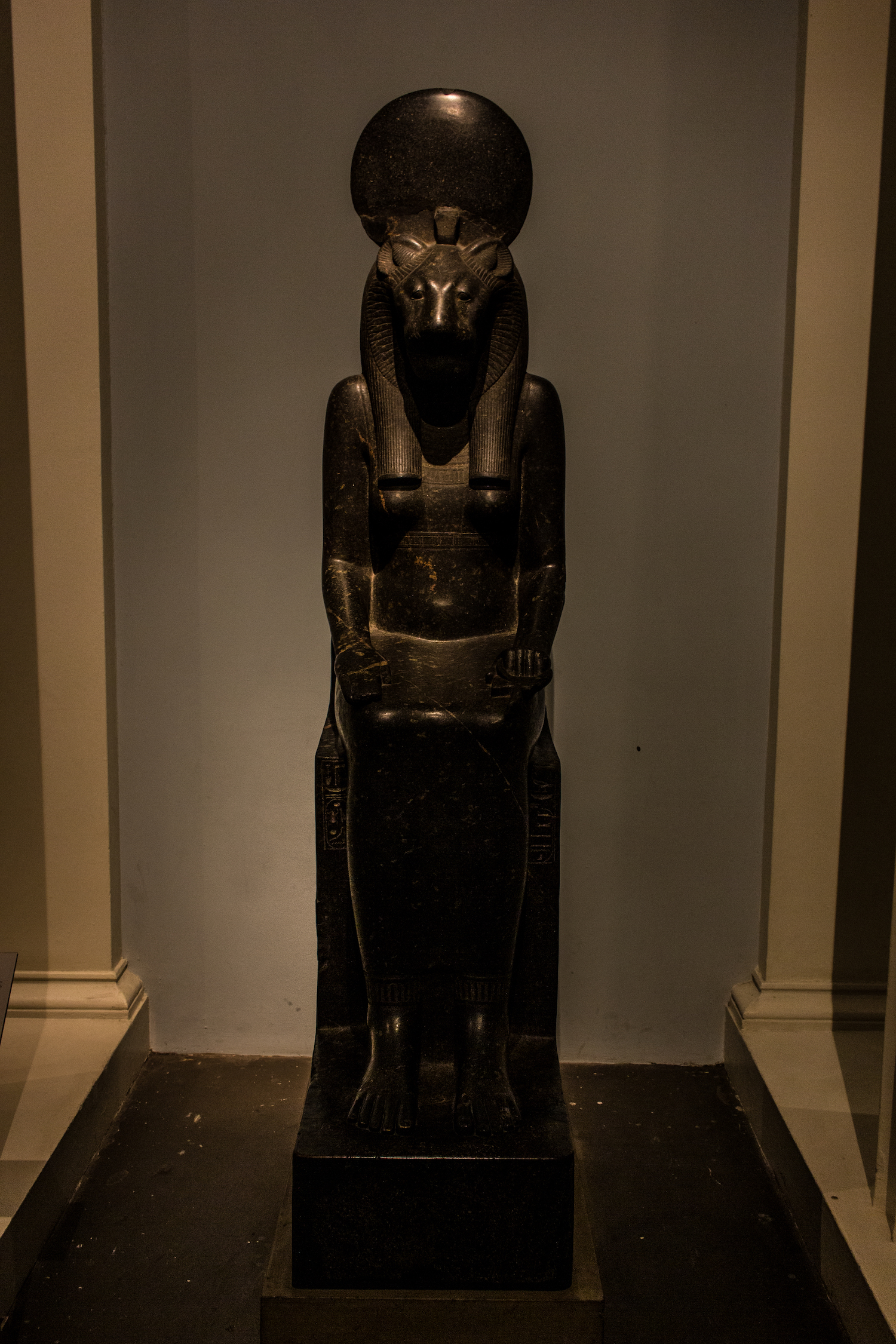 Professional Photography Stone Sculpture From Kemet Egypt Of The Goddess Sekhmet In British Museum London